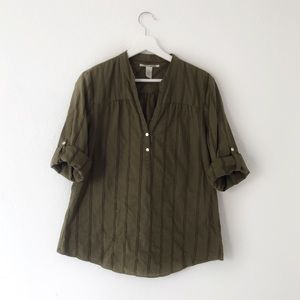Lucky Brand Army Green Buttoned Shirt